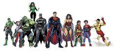 I understand, from retailers who attended recent meetings with DC Comics that the DC Rebirth titles have a two year story arc that all books will be a Dc Rebirth, Dc Universe Rebirth, Arte Dc Comics, Jim Lee, New Justice League, Dc Comics Characters, Book Characters, Story Arc, Detective Comics