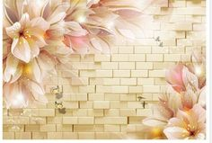 Cheap Wallpaper, Wall Wallpaper, Tv Decor, Wall Decor, Wall Art, Free Background Photos, Flower Mural, Flower Phone Wallpaper, 3d Tvs