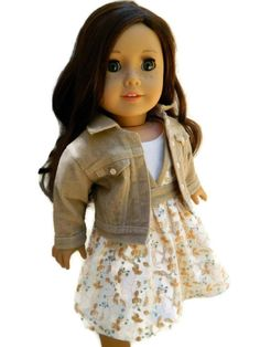 American Girl Doll Clothes Killara Dress and Tank by 18Boutique