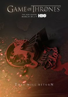 Game Of Thrones Season 4 Teaser Posters | created by Creative Director Raphael Augusto Guerhaldt and 3D & Production Artist Mateus Muramatsu. They've apparently picked that date out of thin air, as no official series premiere date has been set.