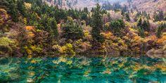 sunnyha 五花海 九寨溝 Five Flower Lake Jiuzhaigou, Sichuan Province, CHINA  Jiuzhaigou…