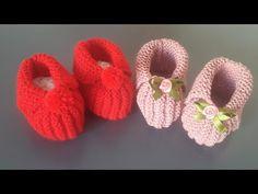 Sapatinho de bebê em tricô fácil, rápido e econômico - YouTube