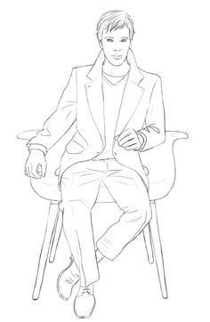 Benedict Cumberbatch, all blank and waiting for you to color him in:   Color Your Own Benedict Cumberbatch