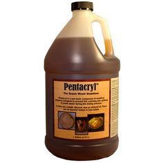 Pentacryl is a wood stabilizer, it will not react with tanic acids in the wood. Prevents cracking, checking and splitting during the drying process.