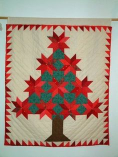 quilt project - sewn on the machine and quilted by hand.