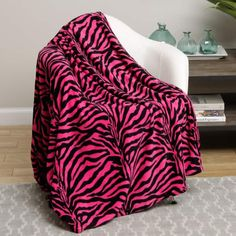 Shop the latest collection of Animal Print Ultra Soft Pink Zebra Queen Size Microplush Blanket from the most popular stores - all in one place. Similar products are available. Zebra Print Bedding, Tiger Blanket, Online Bedding Stores, Pink Zebra, Queen Size, King Size, Bean Bag Chair, Duvet, Furniture