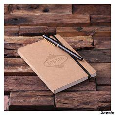 Personalized Banded Kraft Paper Portfolio Journal #journals