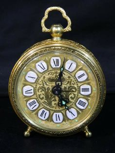 shopgoodwill.com: Vintage Linden W. German Brass Alarm Clock�WORKS!