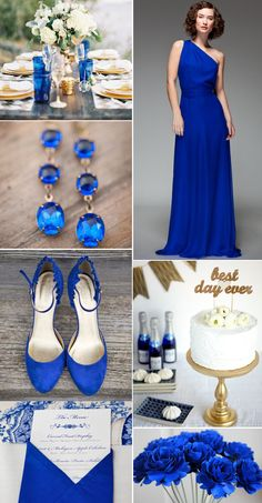 Pantone's Spring 2014 report includes the bold Dazzling Blue! It's powerful, we love it paired with gold, but it would also be lovely with a scarlet red. From the Lucky In Love Wedding Planning Blog from Banquetevent.com