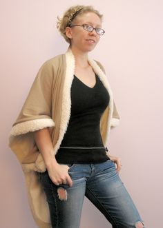 Incredibly easy wrap tutorial- make it with fleece and you won't even need to add any seams.