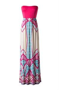 The Stacy Colorful Fountain Maxi Dress