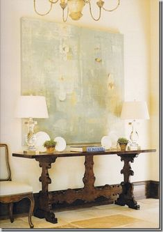 Spanish Console Table & Artwork