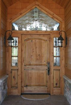 this solid wood door - especially for a log home! There are ...