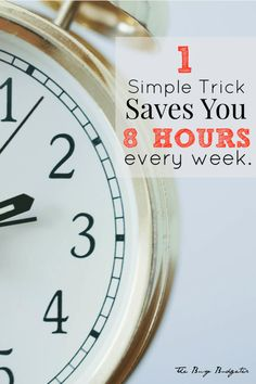 This saves 8 hours a week and hundreds of dollars a year. Anyone can do it from the most unorganized person to the most organized person. Yes!!! Take back my life!