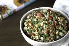 All the fresh herbs piled in this Chickpea Tabbouleh make it a choice dish for spring. YOU. GOT. THIS.
