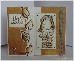 Best Wishes in Autumn Hello,friends today I have the autumn card. I love autumn . It brings its colours, some rainy days, mysteriou. Magnolia Stamps, Autumn Day, Fall Cards, Photo Colour, Distress Ink, Summer Wreath, Rainy Days, Vintage Photos, Paper Art