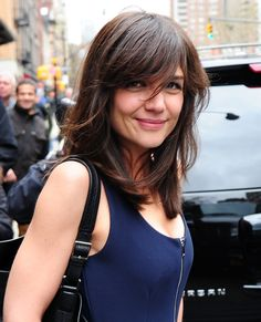 Katie Holmes out and about in NYC -- with bangs! via @stylelist