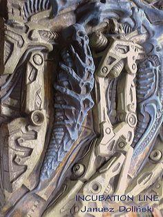 Giger style alien Xenomorph skull