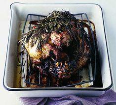 Roast leg of lamb wrapped in rosemary Roasted Lamb Chops, Roast Lamb Leg, Cooking Recipes, Healthy Recipes, Healthy Food, Roasting Tins, Sunday Roast, A Food, Food Processor Recipes