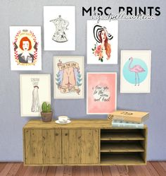 spellcasterr: Misc Prints By Spellcasterr - 28 pictures of random things for your empty walls mesh needed *here* by lina-cherie D O W N L O A D - MEGA OR DROPBOX