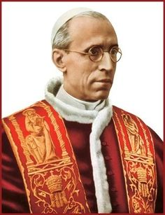 Pio XII PP.Pope Pius XII (Italian: Pio XII), born Eugenio Maria Giuseppe Giovanni Pacelli[a] (Italian pronunciation: [euˈdʒɛːnjo maˈriːa dʒuˈzɛppe dʒoˈvanni paˈtʃɛlli]; 2 March 1876 – 9 October 1958), reigned as Pope from 2 March 1939 to his death in 1958.