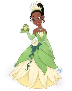 The next Disney Princess is finished! Here's Tiana from The Princess and the Frog :) Disney Pixar, Walt Disney, Disney Nerd, Disney Fan Art, Disney Girls, Disney And Dreamworks, Disney Movies, Disney Characters, Next Disney Princess