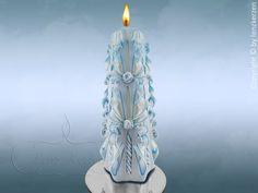 Hochzeitskerze  geschnitzte Kerze.Unikat. von LenzKerzen auf Etsy