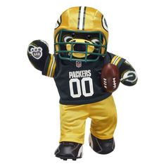Score a touchdown with officially licensed NFL stuffed teddy bears, clothing & more at Build-A-Bear® Workshop. Shop online for gifts for football fans at Build-A-Bear! Green Bay Packers Gifts, Green Bay Packers Fans, Packers Hoodie, Go Packers, Gifts For Football Fans, Green Fur, Unique Gifts For Him, Build A Bear, Teddy Bears