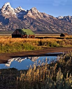 Mormon Row Homestead, near Grand Teton National Park, Wyoming