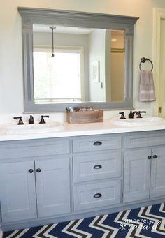 Grey bathroom cabinets, painting bathroom cabinets, laundry in bathroom, . Bathroom Cabinet Redo, Grey Bathroom Cabinets, Painting Bathroom Cabinets, Cabinet Decor, Laundry In Bathroom, Diy Cabinets, Bathroom Shelves, Bathroom Furniture, Paint Bathroom