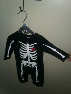 bd0791487195 OLD NAVY HALLOWEEN SKELETON 3-6 MONTHS BODYSUIT OUTFIT 3 6 MOS GLOW In DARK  EUC  fashion  clothing  shoes  accessories  babytoddlerclothing ...