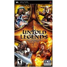 LIKE NEW!!! • UNTOLD LEGENDS BROTHERHOOD OF THE BLADE • PSP • COMPLETE!!