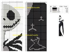 Cross stitch chart Jack Skellington (Nigthmare before Christmas)bookmark