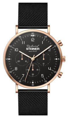 Richard Steiner Generation One Watch Brands, Gentleman, Designer Clocks, Pointers, Leather Cord, Branding, Brand Name Watches, Gentleman Style, Men Styles