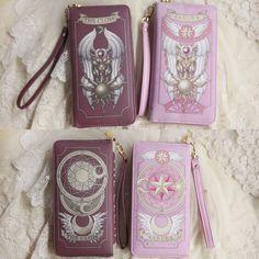 Clamp Tarot Clow Card Captor Sakura RED/PINK Wallet Purse Strap Hand Bag