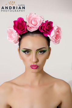Fotografie portret studio foto Iasi Crown, Studio, Floral, Fashion, Make Up, Moda, Corona, Fashion Styles, Flowers
