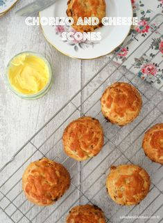 Chorizo and Cheese Scones, delicious savoury scones perfect for afternoon tea.