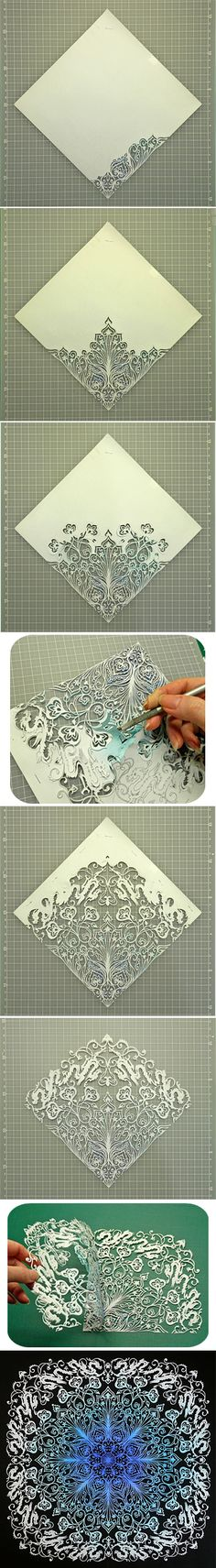 Japanese Kirigami Art(Cut Paper). by Syandery. JAPANESE ARE GENIUSES
