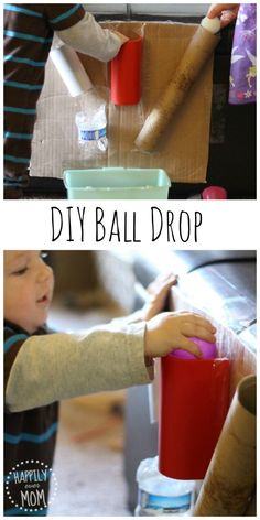Activities for Baby: Make a DIY Ball Drop - Happily Ever Mom