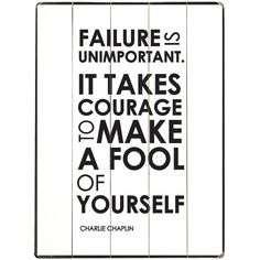 Failure Is Unimportant Wall Art
