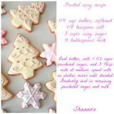 Frosted icing recipe
