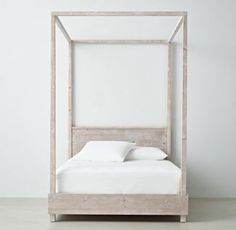 RH TEEN's Callum Platform Canopy Bed with Headboard:Sleep on it. Defined by its clean, contemporary lines and sturdy frame, our Callum collection is artisan crafted and hand finished for an authentically time-worn appearance.