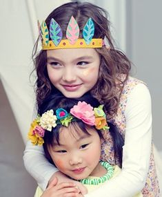 See why Lori Marie's handmade felt feather and flower headbands are the dress-up accessory of choice for your girls. Feather Crown, Feather Headband, Felt Headband, Crown Headband, Little People, Little Ones, Little Girls, Handmade Headbands, Handmade Felt