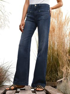 Joop! - Jeans - Dark blue denim Outfits Blue Jeans, Dark Blue Jeans Outfit, Blue Denim, Bell Bottoms, Bell Bottom Jeans, Pants, Fashion, Dark Blue Jeans, Fashion Advice