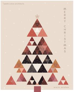 Merry Christmas Wishes : Gallery of Architects Send Their Seasons Greetings and Holiday Wishes 1 Xmas Greetings, Merry Christmas Wishes, Holiday Wishes, Christmas Greeting Cards, Business Christmas Cards, Sapin Design, Company Christmas Cards, Christmas Graphic Design, Best Wishes Card