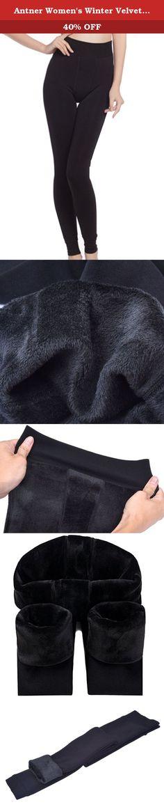 "Antner Women's Winter Velvet Elastic Leggings Warm Full Length Velvet Thermal Leggings,Black. Antner Thermal Leggings Material: nylon,spandex and fleece lining Color: balck Antner is a registered brand,all of our product packaging has a unique Antner logo Please hand wash cold, do not bleach, and hang dry Length:37"",Waist(stretchy):22'' - 33.5"",Hip : 27.56'' - 39.37'',Suitable for weight 88 lb - 160 lb,height 150 - 170cm ."