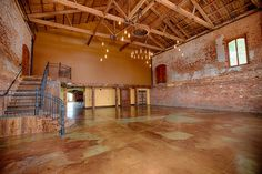 this is where we had prom this year. Greenville, SC rustic wedding venue: The Old Cigar Warehouse