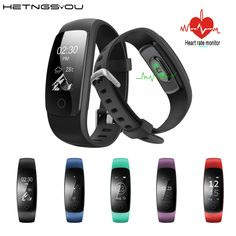 HETNGSYOU ID107 HR Plus Smart Wristband Bracelet Heart Rate Monitor Sports Cardio Fitness Tracker Guide Breathing Bluetooth Band