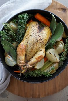 Apple + Herb Roasted Pheasant with Wild Giblet Gravy . wildandwhole.com