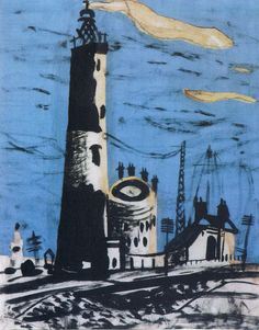 'Dungeness' by John Piper, 1936 (gouache, ink and collage) Landscape Art, Landscape Paintings, Landscapes, Landscape Drawings, John Piper Artist, Collages, Collage Art, John Minton, Tapestry Design